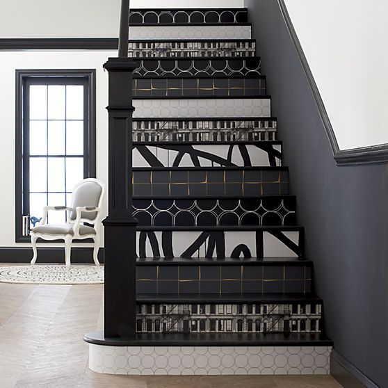 As escadas também podem ser decoradas