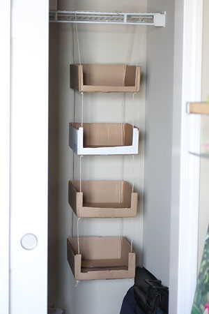 Caixas de papelão para organizar