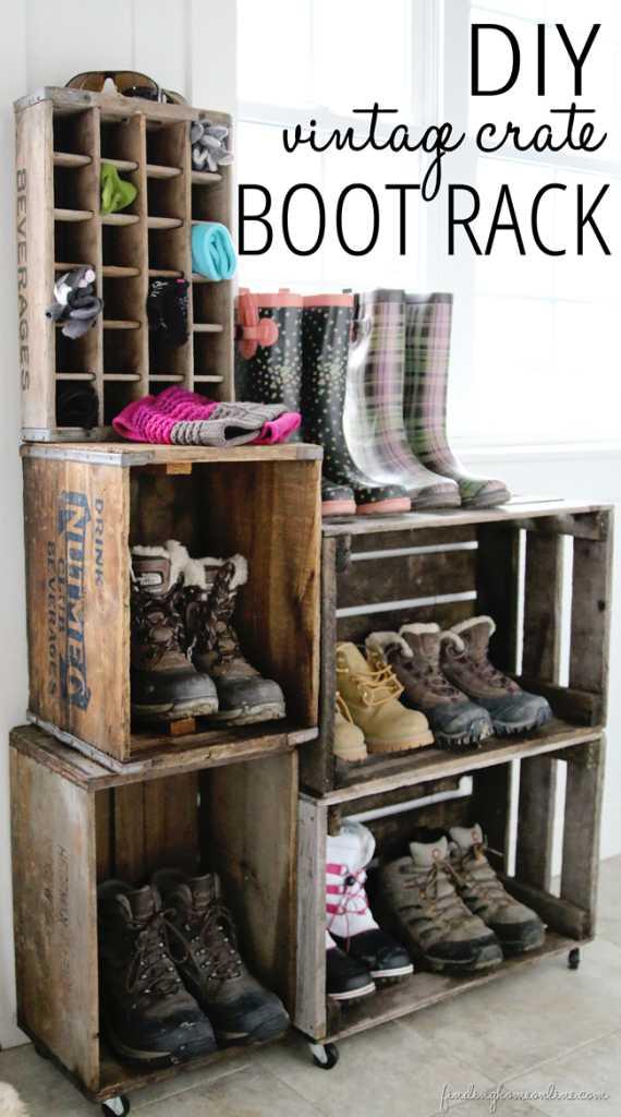 Caixotes para guardar os calçados