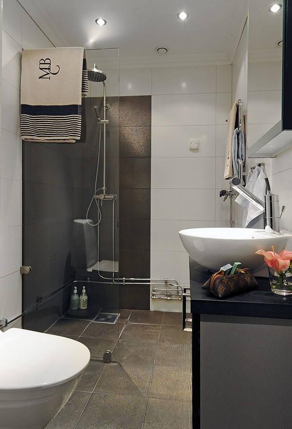 Cores modernas para o interior do banheiro