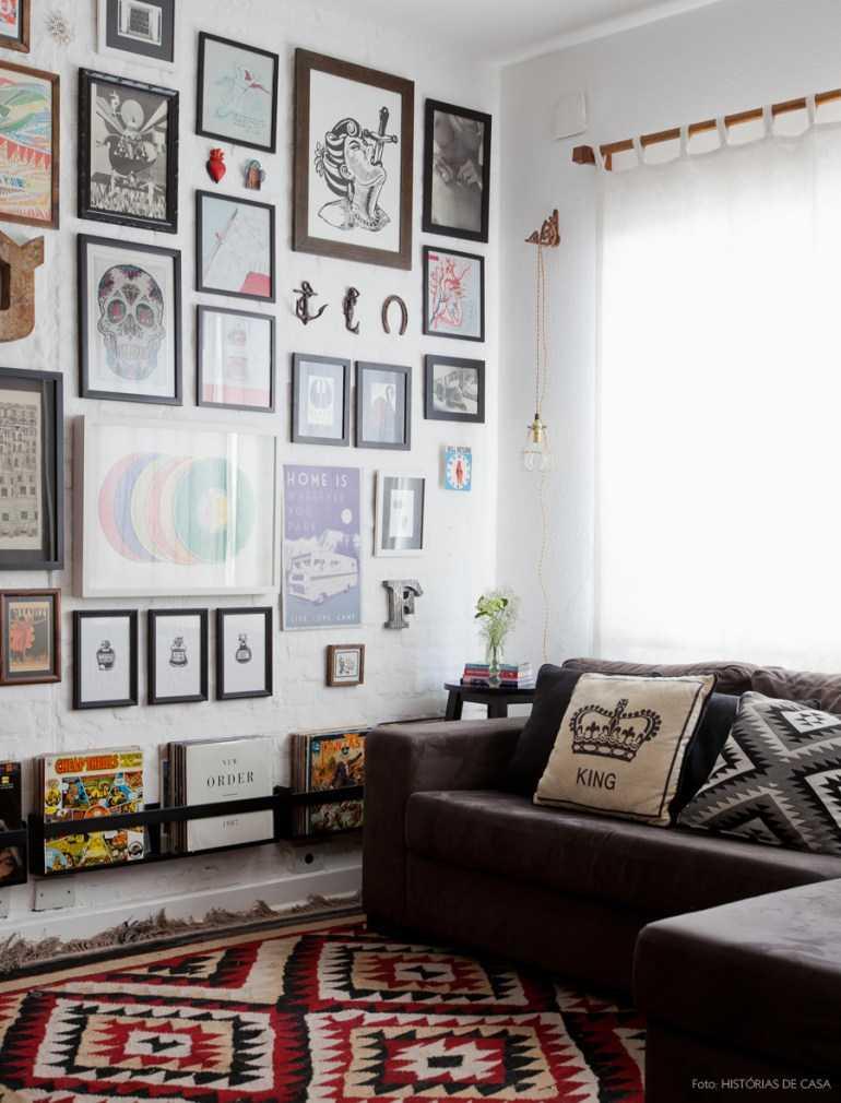 Decoração de sala com quadros