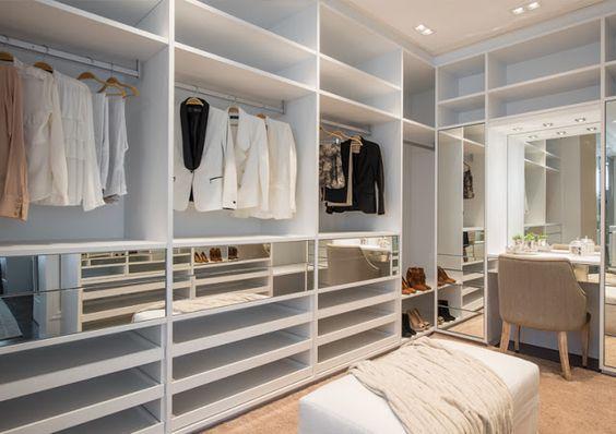 Quarto Com Closet, + de 60 Modelos Para Mudar Seu Quarto ~ Quarto Simples E Bem Organizado