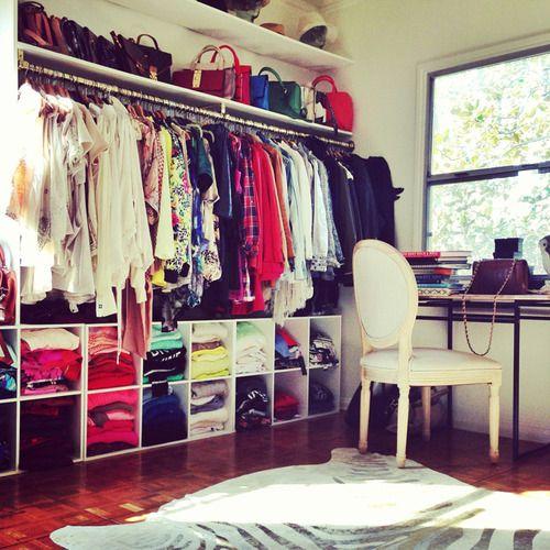 Quarto com closet 70 modelos e projetos para seu quarto for Closets abiertos pequenos