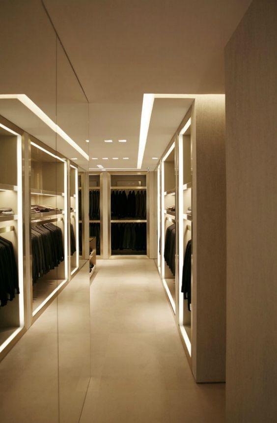 closet com iluminação