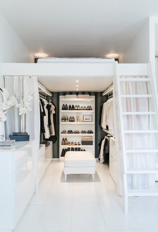 Quarto com closet de 60 modelos para mudar seu quarto for Bedroom designs with attached bathroom and dressing room