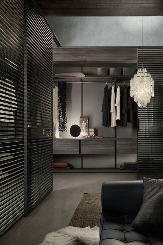closet em cores escuras