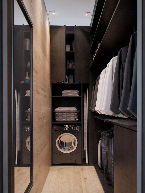 Quarto com closet de 60 modelos para mudar seu quarto for Closet blanco pequeno