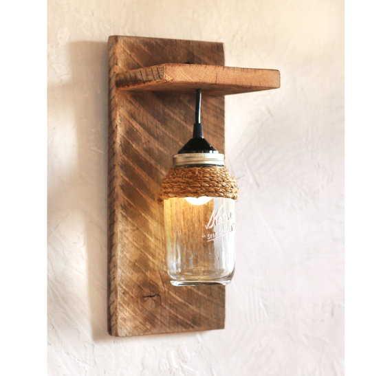 decoração com pote e lampada