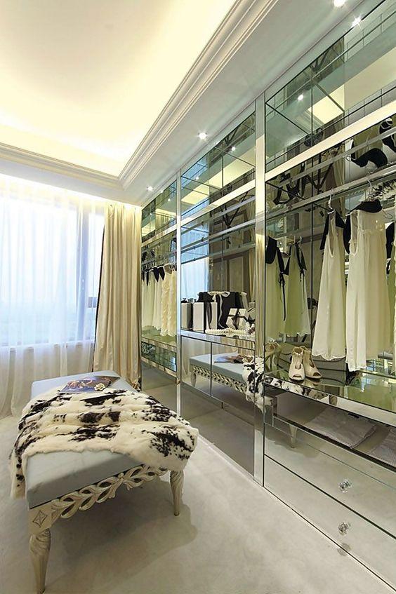 espelhos no closet