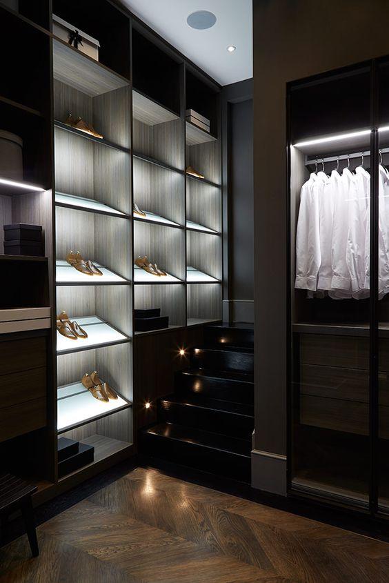 iluminação no closet