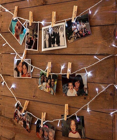 Varal de fotos veja como fazer e mais 25 inspira es for Mural de natal 4 ano