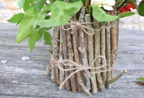 vasinho de flores rústico