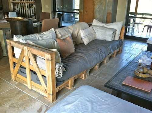sofá de pallet