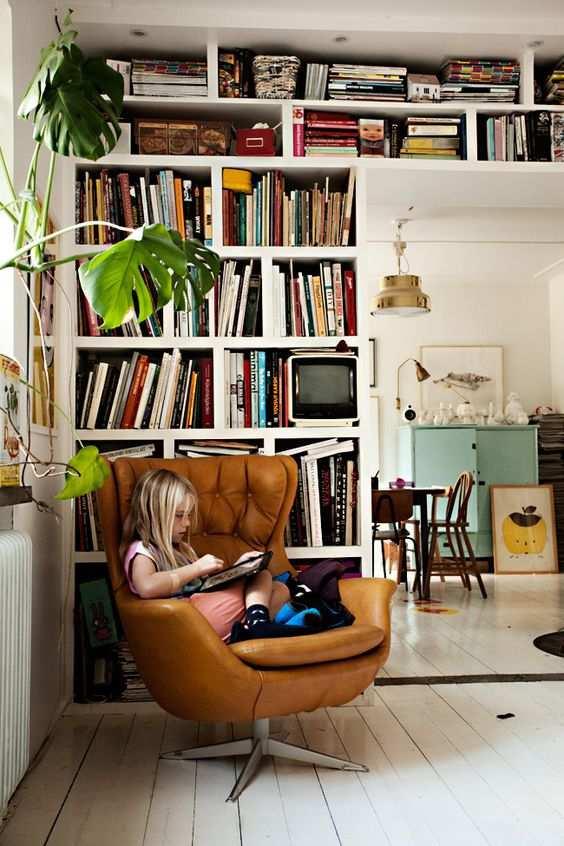 Cantinho da leitura 50 modelos com fotos e v deos - Fauteuil de lecture confortable ...