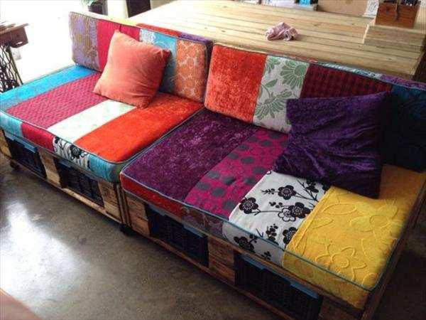 Sof de pallet como fazer como fazer as almofadas com - Fodere cuscini divano ...