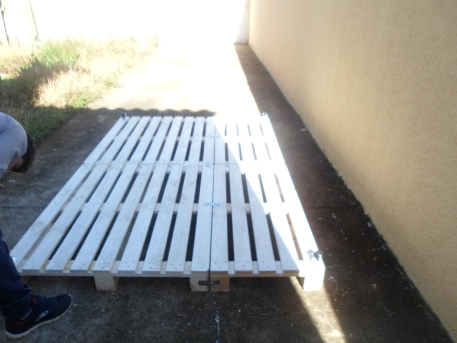 Base pronta de cama de palete