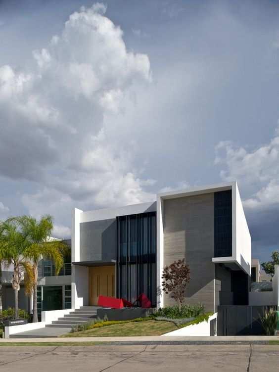 Casas lindas conhe a 65 casas incr veis e se inspire Fachadas de casas minimalistas 2016