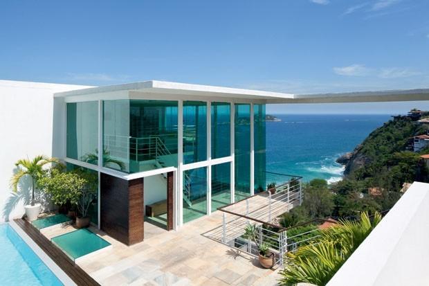 Casas lindas a beira da praia