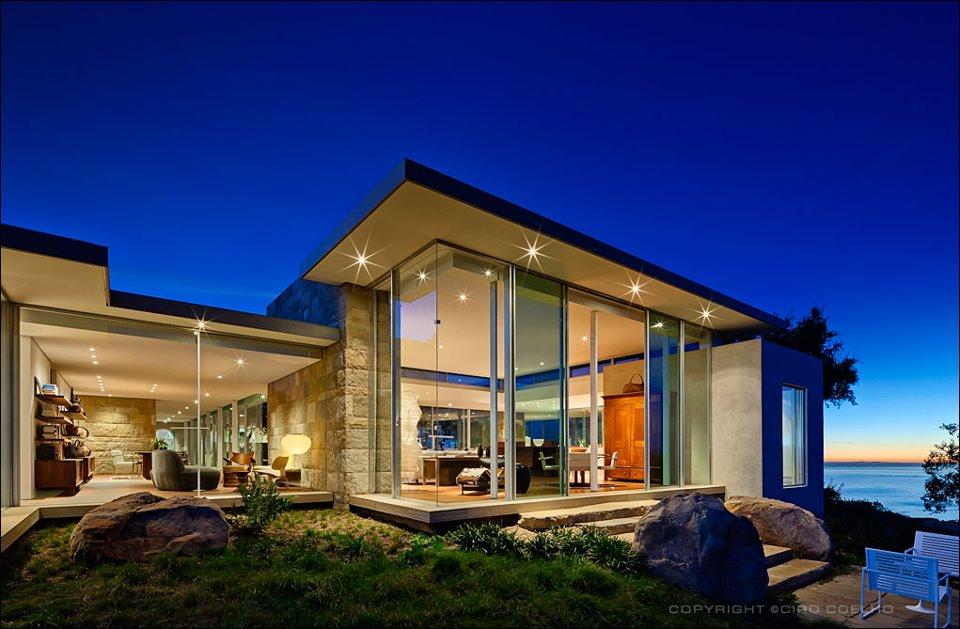 Casas lindas com vidros