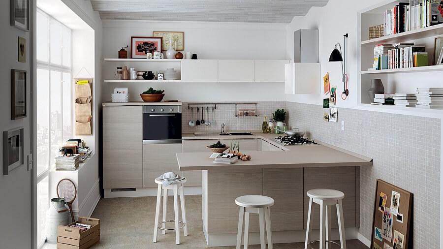 Cozinha simples aberta