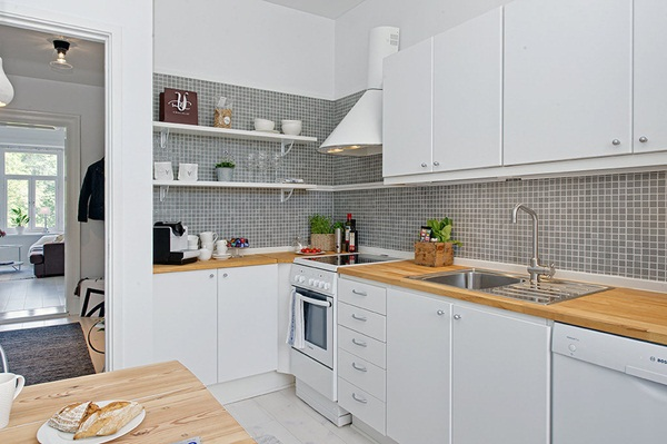 Cozinha simples de apartamento