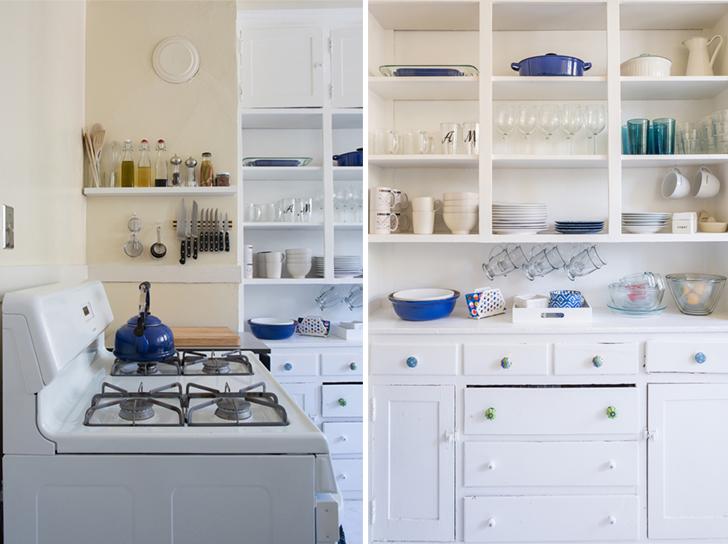 Cozinha simples e organizada