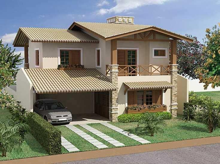 Casas lindas conhe a 65 casas incr veis e se inspire for Fachadas de casas estilo rustico moderno