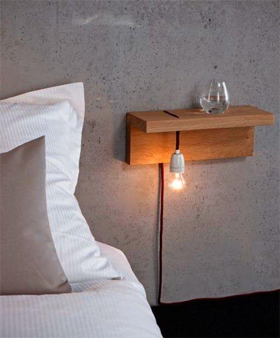 Luminária de ladopara cama