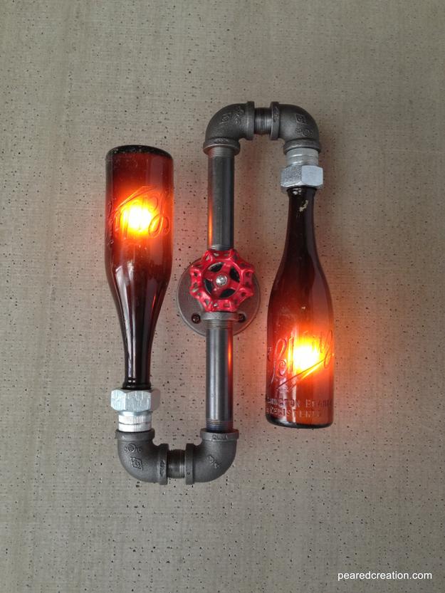 Luminária garrafas