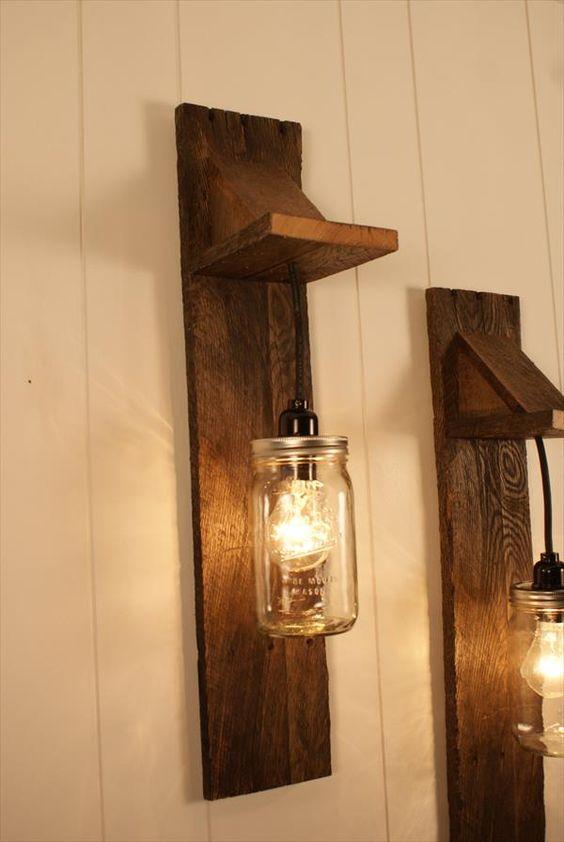 30 modelos de lumin rias para voc se inspirar e fazer a sua - Scrap wood decorated house ...