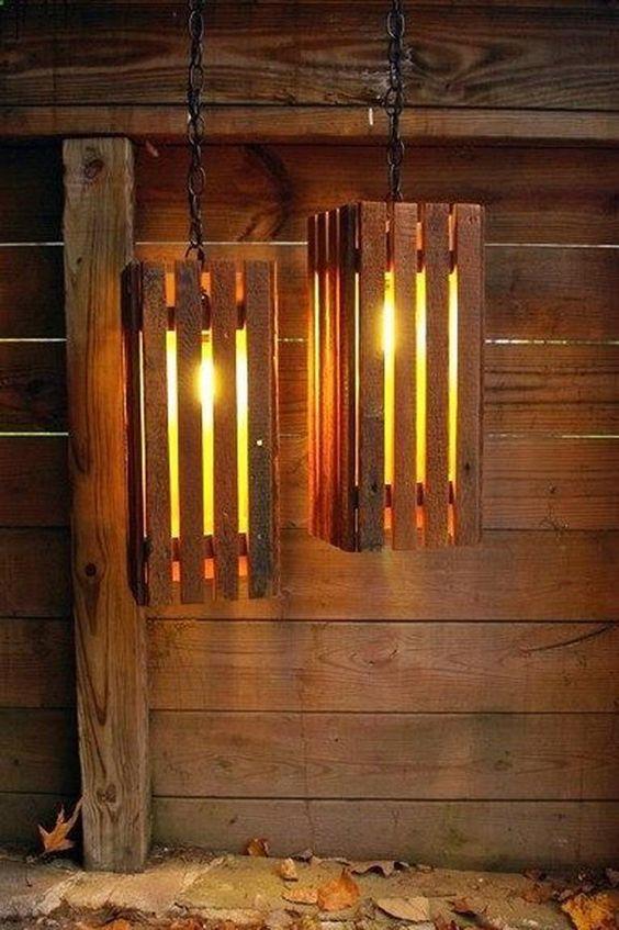 30 modelos de lumin rias para voc se inspirar e fazer a sua - Como hacer una lampara rustica ...