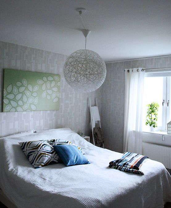 Lumin ria de barbante veja como fazer 20 modelos fotos - Lamparas de habitacion ...