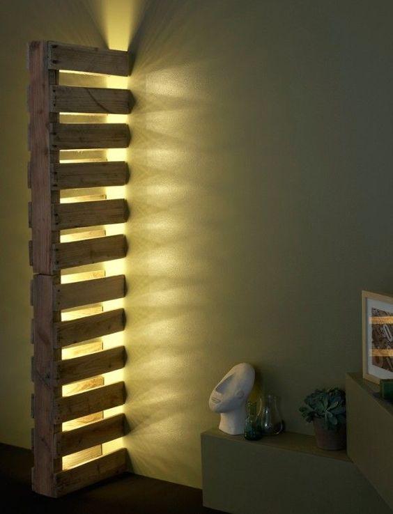 Paletes luminária