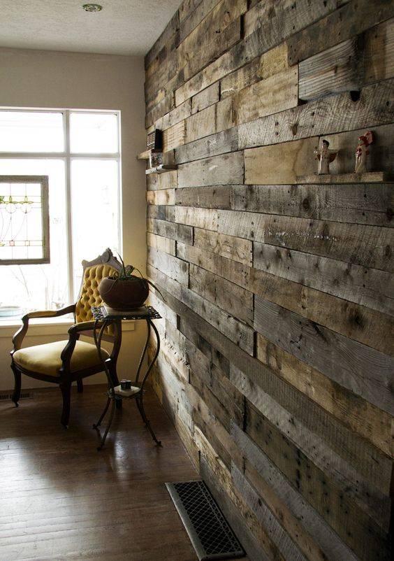 Pallets rusticos na parede