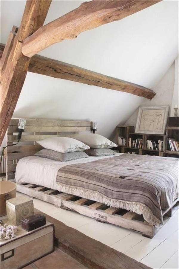 cama de palete super rustica