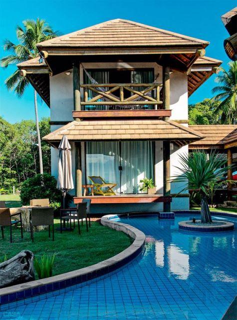 casas lindas com jardim e piscina