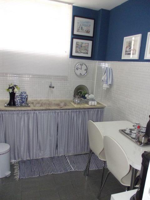 cozinha simples azul