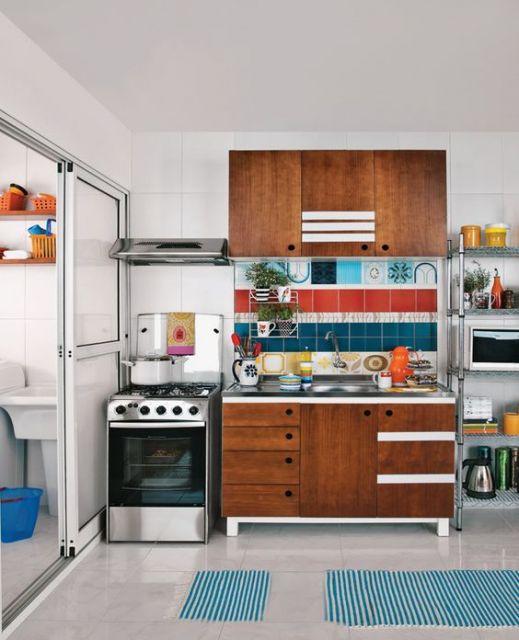 cozinha simples de madeira