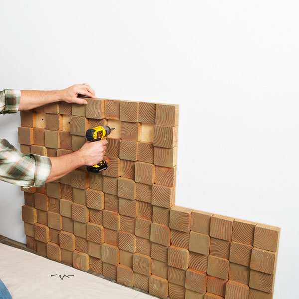 decoracao blocos de madeira