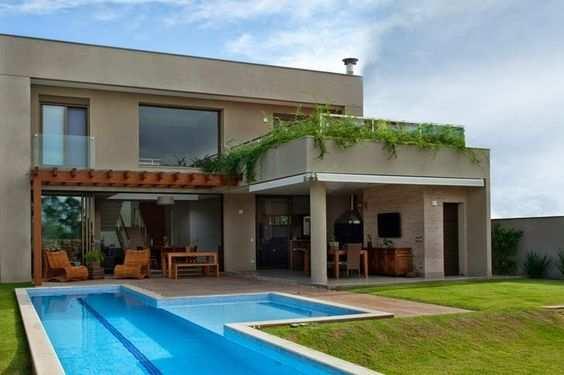 fachada com piscina