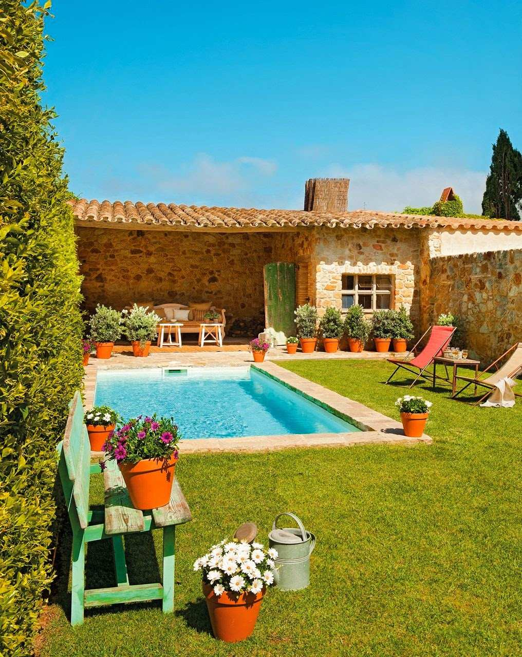 Casas lindas conhe a 65 casas incr veis e se inspire for Ideas para jardines de campo