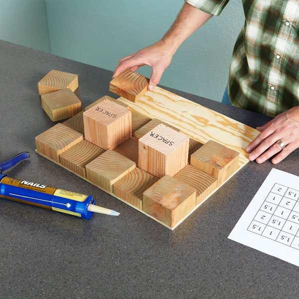 parede blocos de madeira