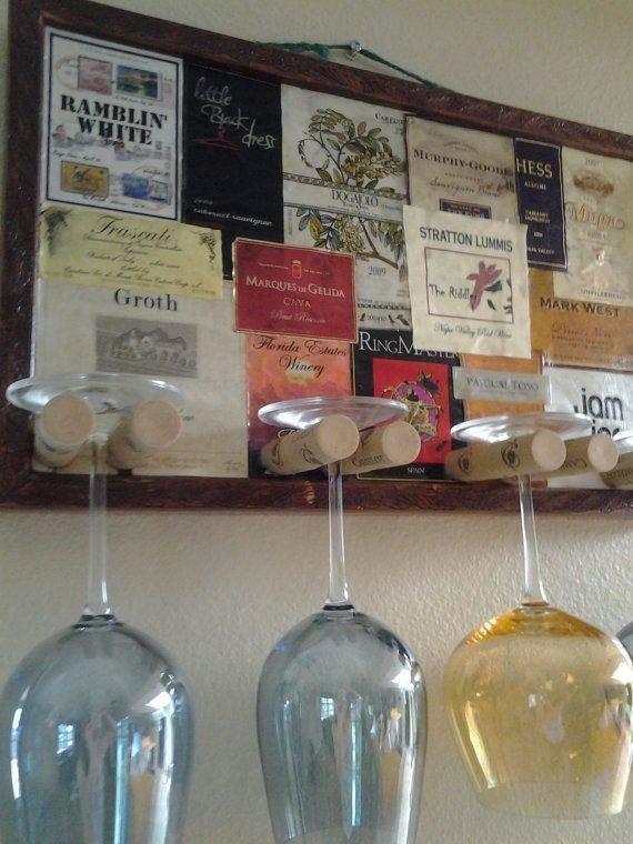 porta copos para vinho