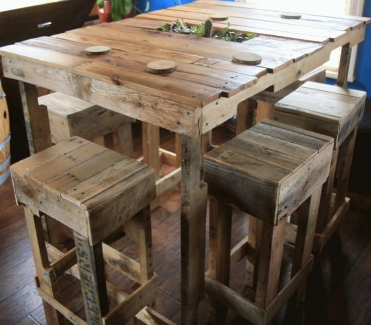 Mesas bar de pallet