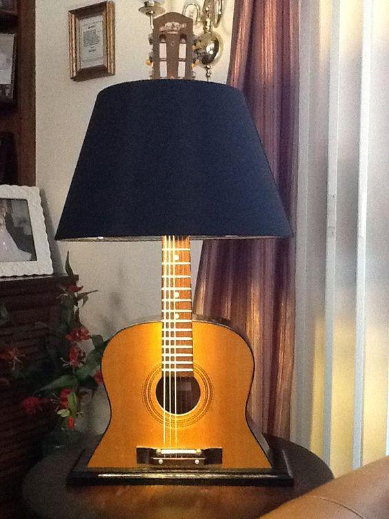 abajur de violão