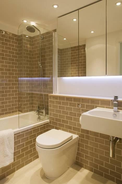 Inspiração  Pequeno apartamento de 2,3 metors de largura -> Banheiro Pequeno Largura