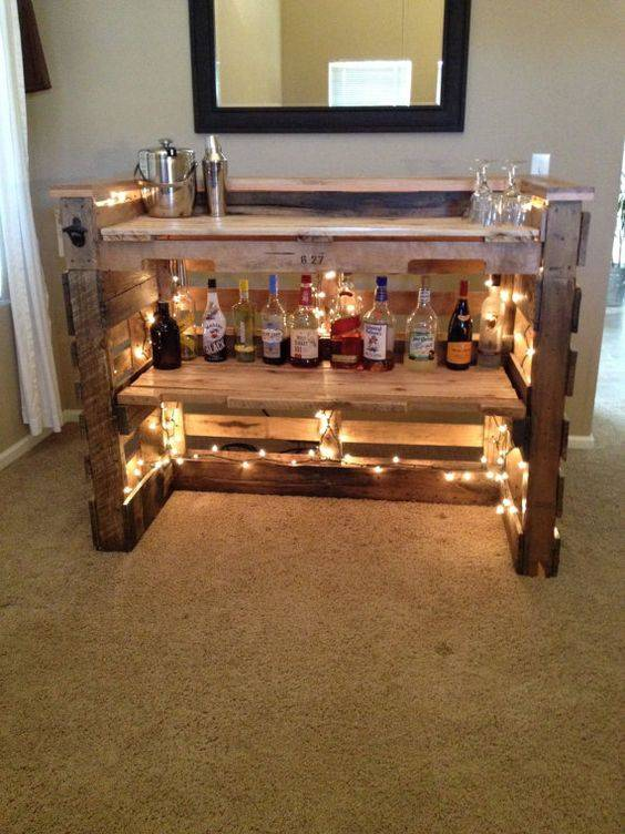 bar de pallet adega de vinho e outras ideias para seu. Black Bedroom Furniture Sets. Home Design Ideas