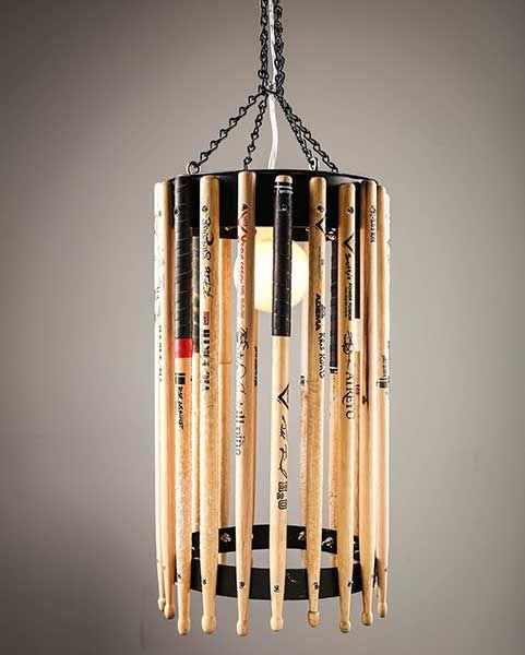 luminária de baquetas