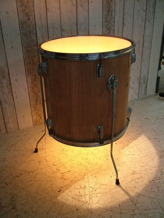 luminária de tambor musical