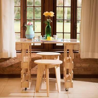 mesa comum de pallet